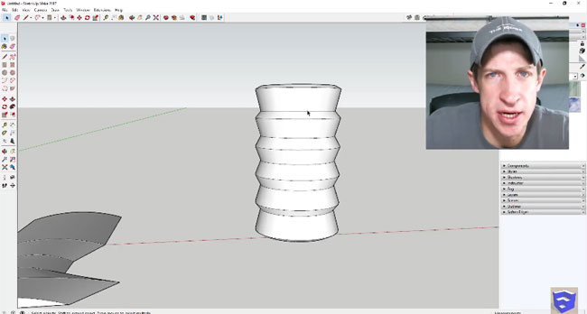 How to use push/pull tool in sketchup to generate new faces