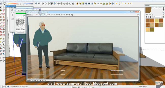 Useful Sketchup Tip For Tiurning A Sofa Photo into a 3D Model