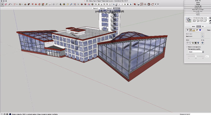 How to apply x-ray, back edge, transparency feature in sketchup to see through any model