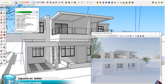 Sketchup tutorial sketchup video tutorials sketchup tutorial download for Setting render vray sketchup exterior