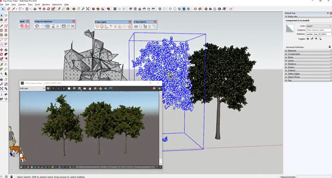 How to speed up your modeling in sketchup with v-ray proxies