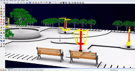 rendering with sketchup v-ray