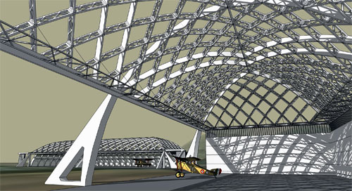 How to design space truss with sketchup
