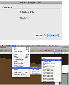 Export SketchUp Pro to Artlantis
