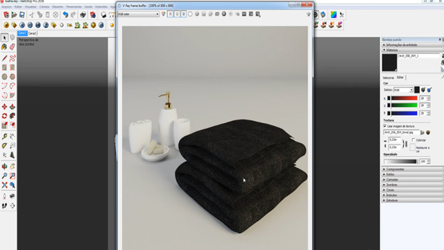 How to Form Towel with Displacement in V Ray for SketchUp