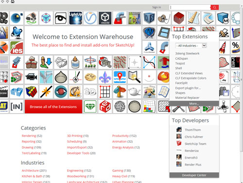 How to set up a trial sketchup extension