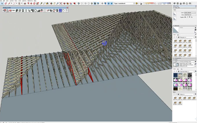 How to generate complicated truss roof with PlusSpec
