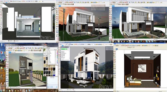 Live tutorials on sketchup and v-ray