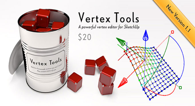 Vertex Tools (1.3.2) for Sketchup