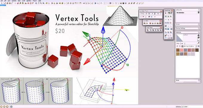 Vertex Tools – The updated version is available in extension warehouse