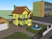 Virtual home in google sketchup