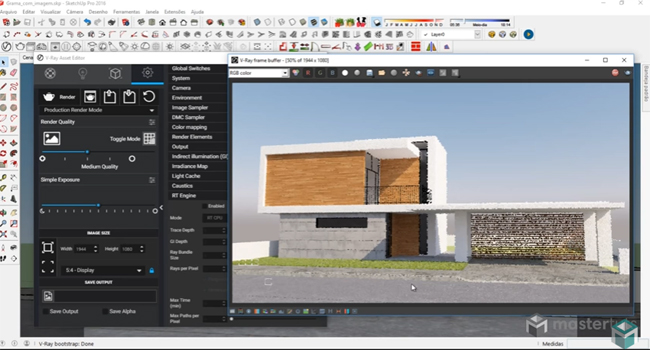 How to Configure Image Sampler in Vray for Sketchup 3.4