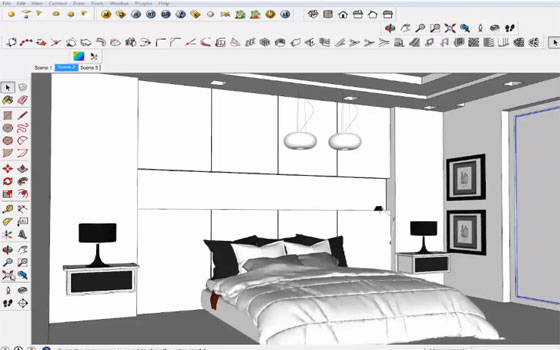 Interior lighting with vray sketchup v ray lighting tutorial for Vray interior lighting rendering tutorial