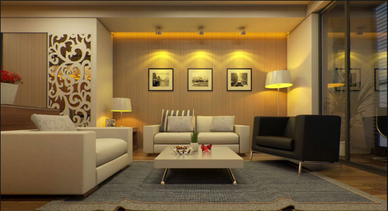 Apply V-ray & Sketchup for interior rendering of a living room