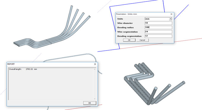 Wire Bending & Routing Tool – The newest sketchup extension