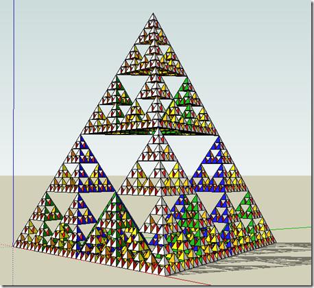 Sierpinski Tetrahedron keyframe animation