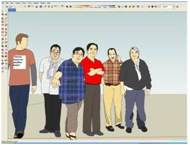 How to add people in Sketchup | Sketchup 3d Warehouse