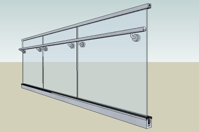 Glass Panel Handrail