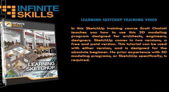 Infinite skills introduces Learning SketchUp 2013 Video Training - DVD