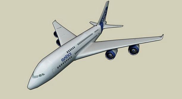 aircraft model design in sketchup | free 3D aircraft download