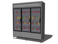 Display fridge 30 in