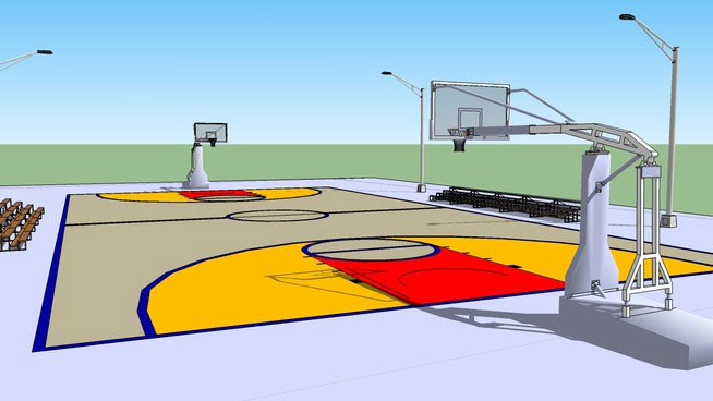 Sketchup components 3d warehouse basketball court outdoor for Outdoor furniture 3d warehouse