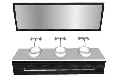 Sketchup components 3d warehouse bath bathroom vanity for Sketchup bathroom sink