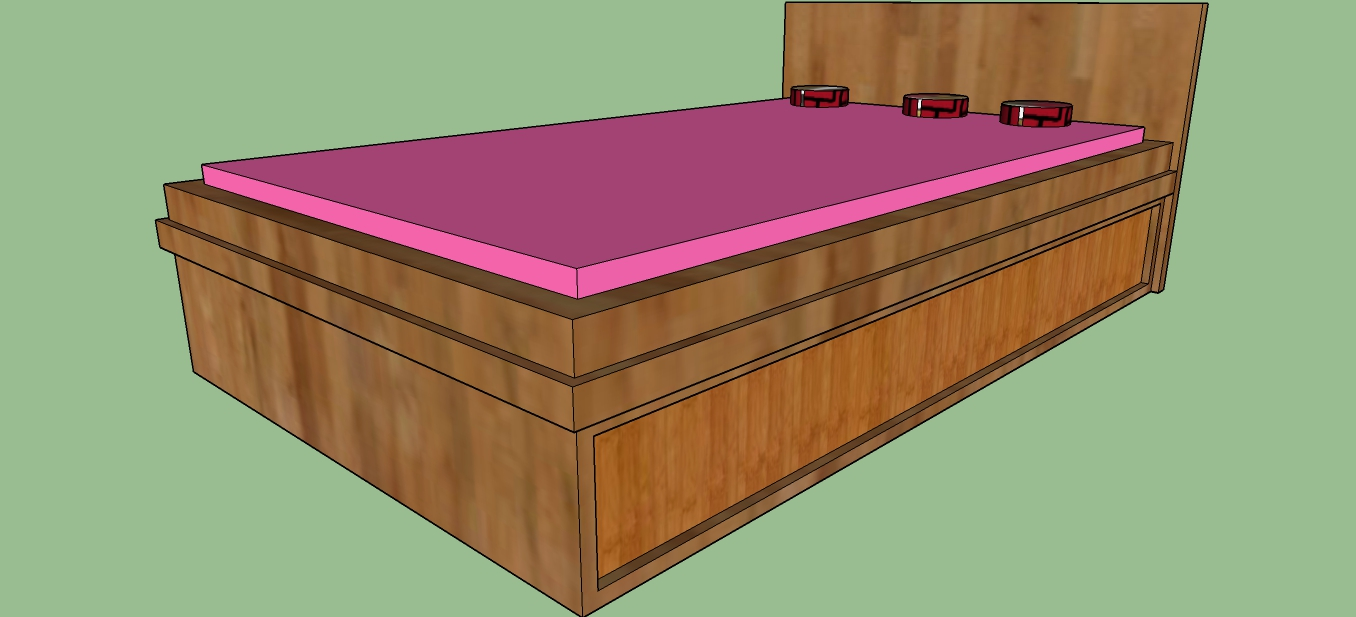 Sketchup 3D Warehouse Bed | 3D Models Bed | Free Download 3D Bed Model
