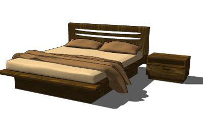 Sketchup components 3d warehouse bed bed bett for Outdoor furniture 3d warehouse