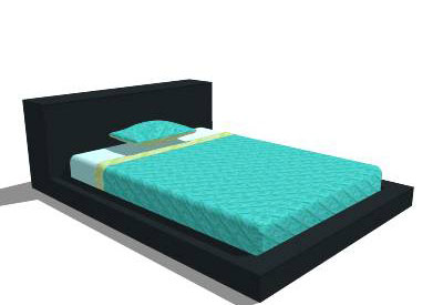 sketchup components 3d warehouse Bed: Blu Dot Full Bed