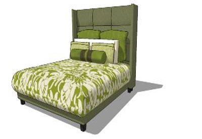 Sketchup components 3d warehouse bed highback bed for Outdoor furniture 3d warehouse