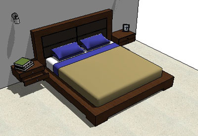 Sketchup Components 3d Warehouse Bed Luxury Bed With Headboard