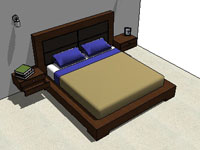 Luxury Bed with Headboard