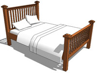 Queen Sized Wooden Bed