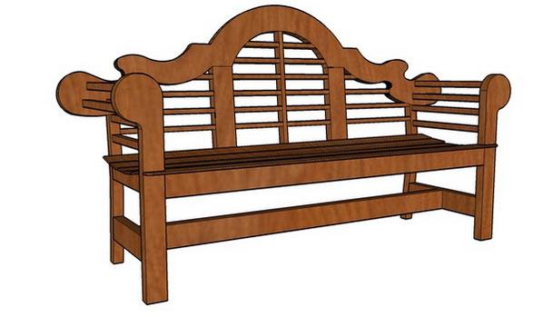 Sketchup Components 3d Warehouse Garden Bench