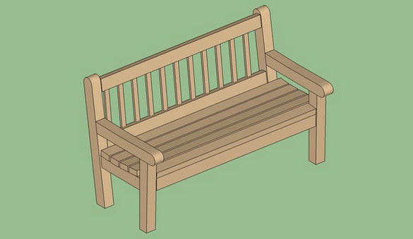 Bench Wood Highback