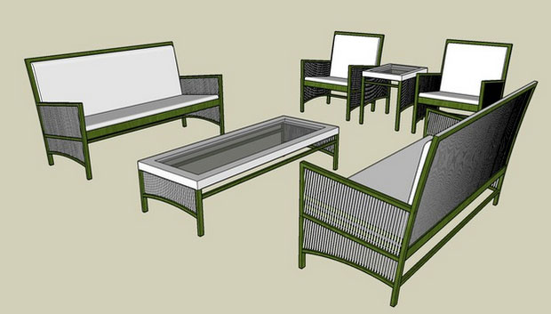Sketchup components 3d warehouse outdoor furniture set for Outdoor furniture 3d warehouse