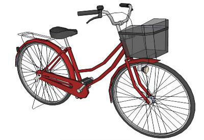 Simple Bicycle Drawing Simple Bicycle in Sketchup