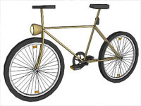 Basic Bicycle in Sketchup