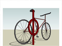 Bicycle Bike Rack in Sketchup