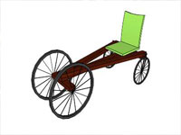 Billy Cart Bicycle in Sketchup
