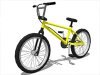 BMX Bicycle in Sketchup