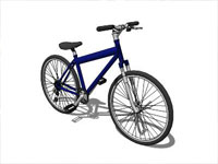 Clasic Bicycle in Sketchup