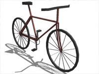 Cruiser Bicycle in Sketchup