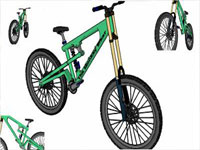Mountain Bicycle in Sketchup
