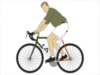 Riding 2D Bicycle in Sketchup