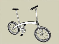 Unfolded Bicycle in Sketchup