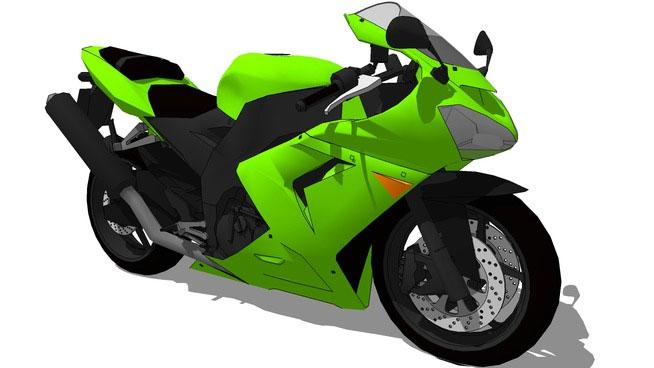 Sketchup Components 3d Warehouse Bike Bikes Kawasaki Ninja