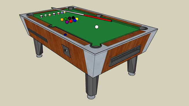 Billiard model design in sketchup free 3d billiard download for Table design sketchup
