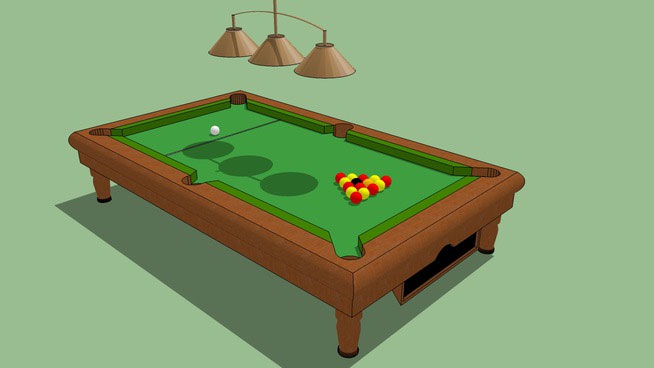 Sketchup components 3d warehouse english pool table for Outdoor furniture 3d warehouse